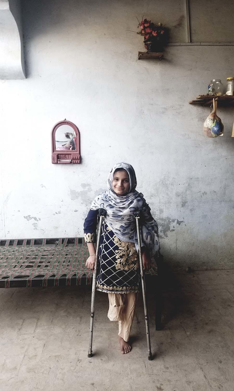 Faiqa inside her home in Dera Ismail Khan