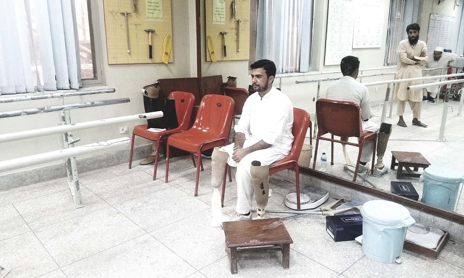 Muhammad Asim waits his turn in PIPOS.
