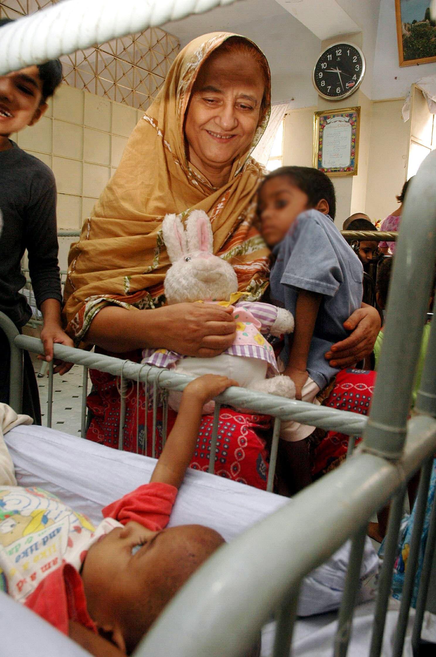 Bilquis Edhi at an Edhi Centre in Karachi | Fahim Siddiqi/White Star