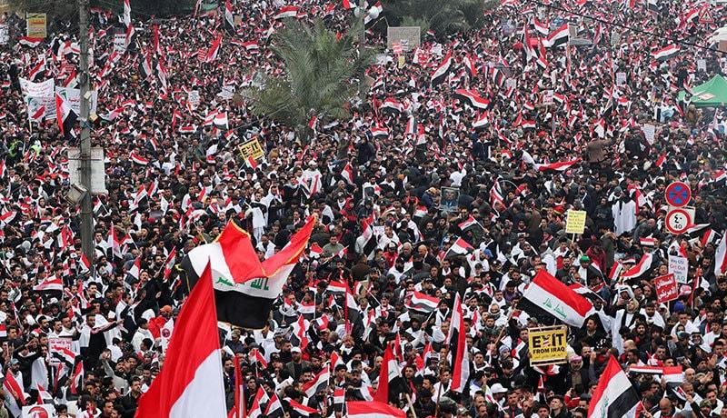 عراق: امریکی فوج کے انخلا کیلئے ہزاروں افراد کا مظاہرہ