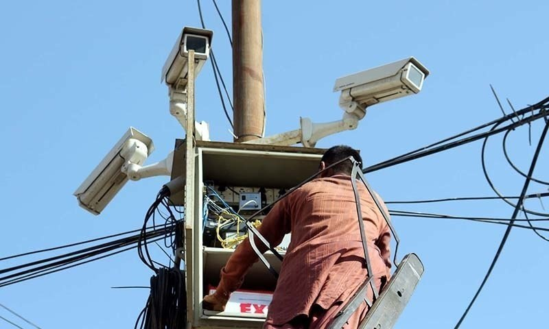 """""""We are targeting about 10,000 cameras to be installed in next six months,"""" Karachi police chief Ghulam Nabi Memon says. — APP/File"""