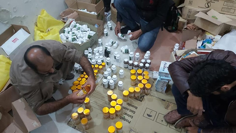 A stash of unregistered medicines recovered in December 2019 from an illegal warehouse maintained by a leading pharmacy in Islamabad | Drug and Food Control ICT, Islamabad