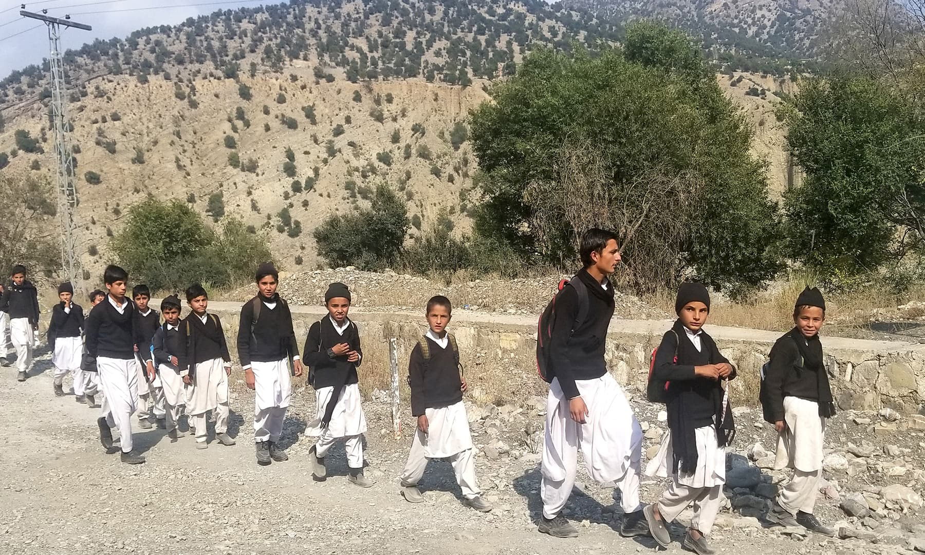 Children on their way to school in South Waziristan.