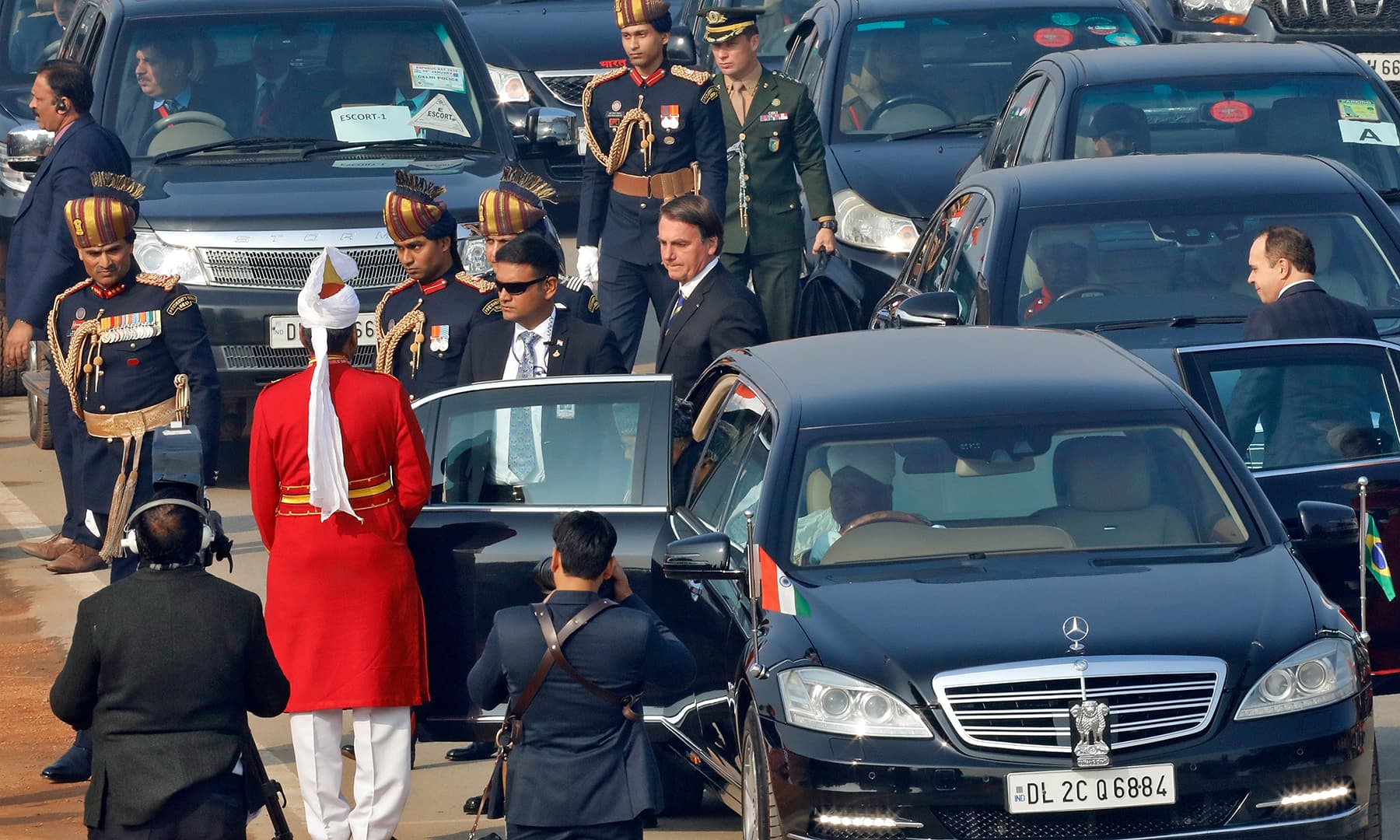 Brazil's President Jair Bolsonaro arrives to attend India's Republic Day parade in New Delhi, India. — Reuters