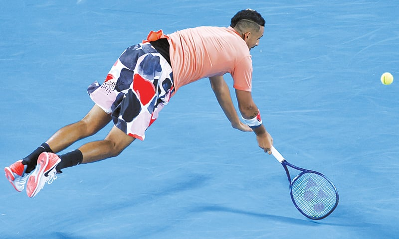 Steady Nadal beats animated Kyrgios at Australian Open