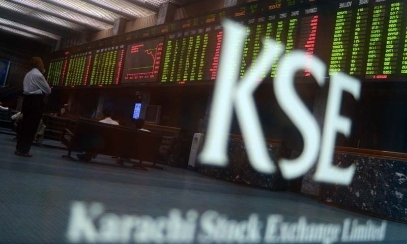 Stocks moved in a tight band on the first trading day of the week with the KSE-100 index recording a drop of 93.79 points (0.22 per cent) and closing at 42,539.23.  — AFP/File
