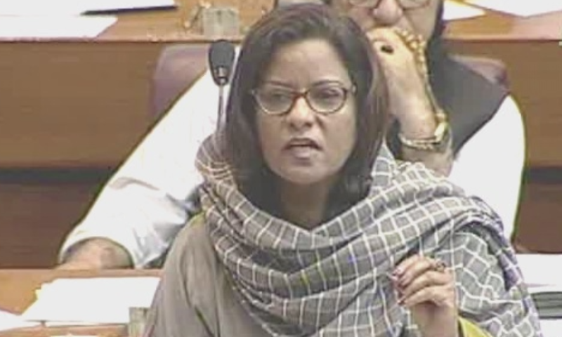 """Inflation-hit masses are looking towards the opposition due to the failure of the current government,"" says PPP central information secretary Nafisa Shah. — DawnNewsTV/File"