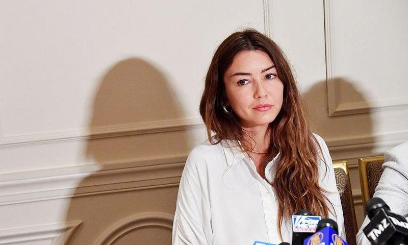 مریم ہیلی نے پورے واقعے کو جیوری کے سامنے بیان کیا—فوٹو: اے ایف پی