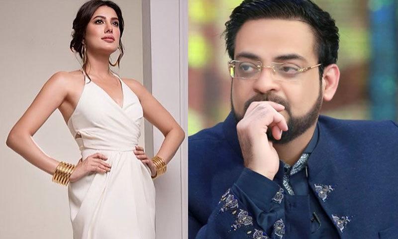 عامر لیاقت نے اداکارہ کی حال میں کھچوائی گئی بولڈ تصویر پر اردو قول لکھا—فوٹو: انسٹاگرام/ فیس بک