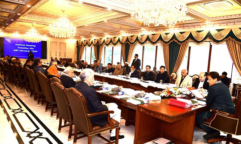 Prime Minister Imran Khan chairs a meeting of the federal cabinet in Islamabad on Tuesday. — PID