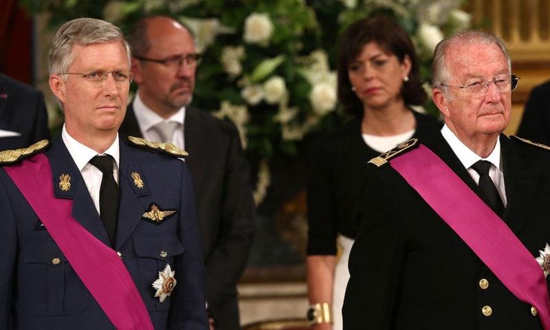 البرٹ دوئم نے 2013 میں تخت چھوڑا تھا جس کے بعد ان کے بیٹے فلپ تخت نشین ہوئے تھے—فوٹو: اسکائے نیوز