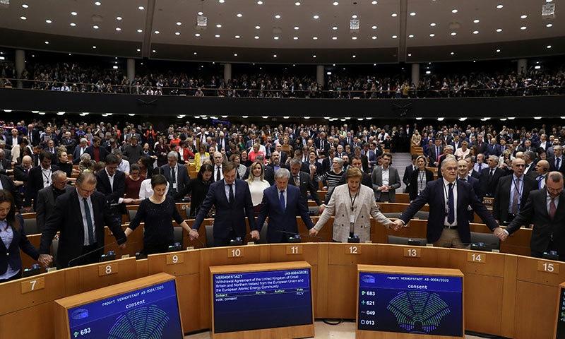 یورپین پارلیمنٹ نے اتحاد سے برطانیہ کی علیحدگی کی حتمی منظوری دے دی