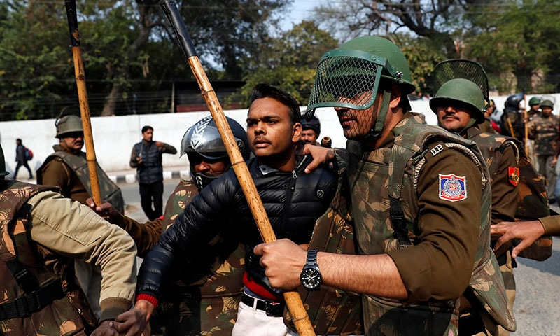Gunman opens fire at Dehli student protest against India's citizenship law; 1 wounded