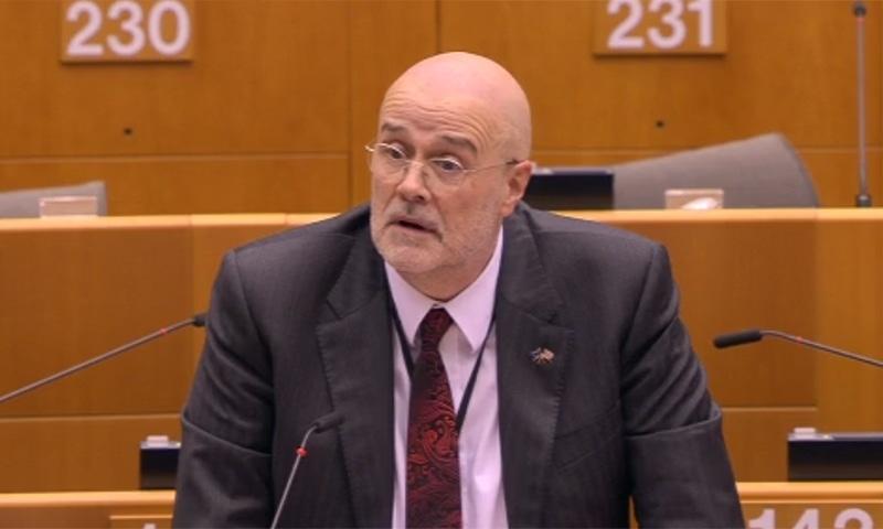 John Howarth lambasted the citizenship law on Wednesday. — Screenshot from EU Parliament website