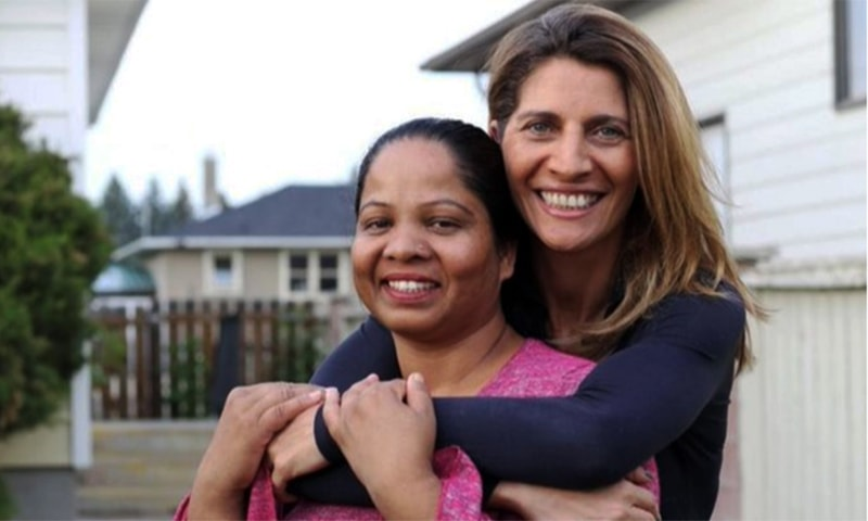 Asia Bibi pictured with French journalist Anne-Isabelle Tollet who has co-written a book about her, at an undisclosed location in Canada. — Twitter