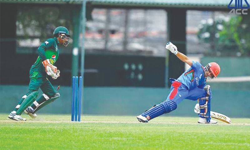 Mohammad Huraira's batting propelled Pakistan towards winning the final group match against Afghanistan. — ACC/File
