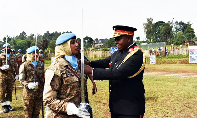 Pakistan's first-ever all-female peacekeeping team awarded UN Medal in Congo