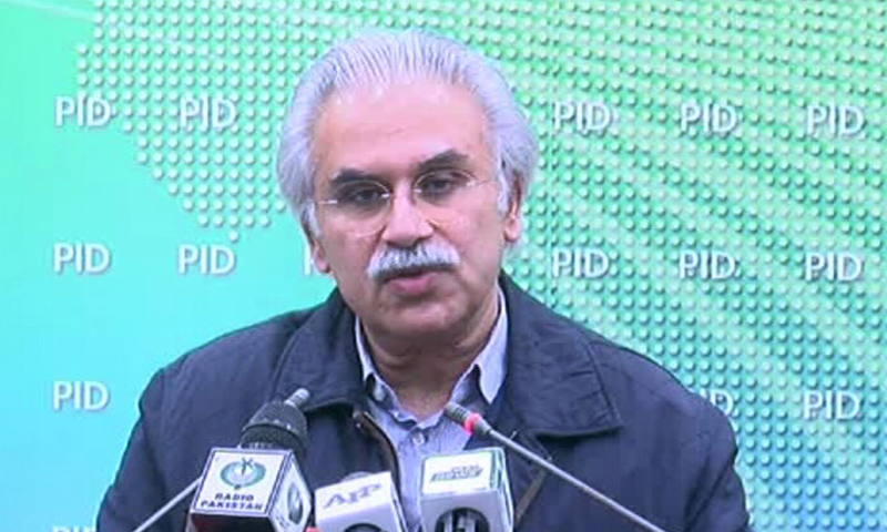 Special Assistant to the Prime Minister on Health Dr Zafar Mirza addressing a press conference on Feb 1, 2020. —  DawnNewsTV