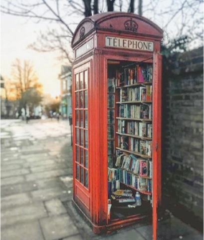 Phone booth library