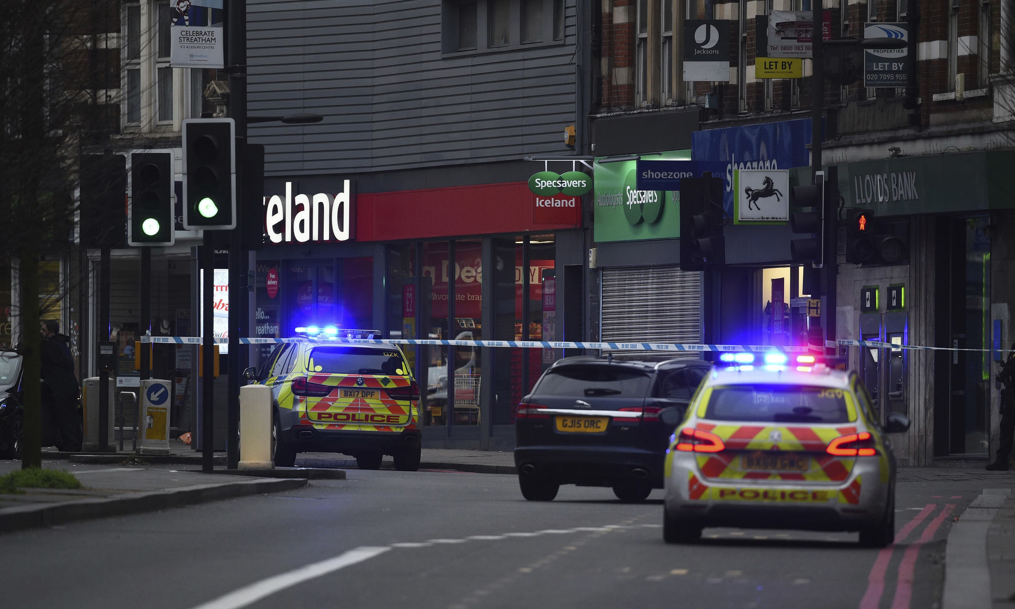 """London police say officers shot a man during a """"terrorism-related incident"""" that involved the stabbings of """"a number of people"""". — AP"""
