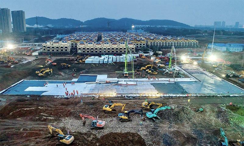 کورونا وائرس، چین میں ایک ہزار بستر کا ہسپتال 10 دن میں تعمیر