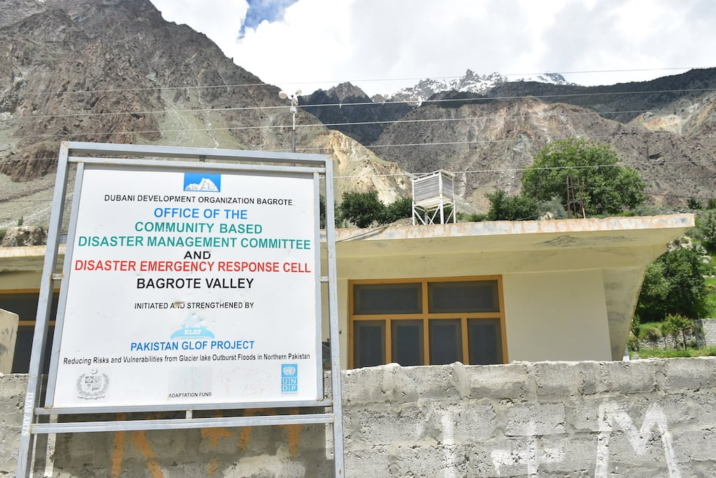 A Disaster Management Response Cell established under GLOF-I project in Bagrot valley.