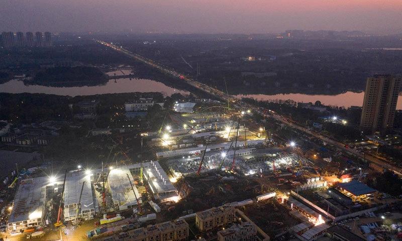 ہسپتال کو 25 ہزار اسکوائر میٹر رقبے پر بنایا گیا—فوٹو: اے ایف پی