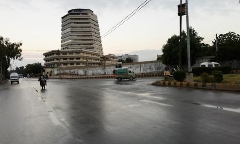 کراچی میں سال 2020 کی پہلی بارش، موسم خوشگوار