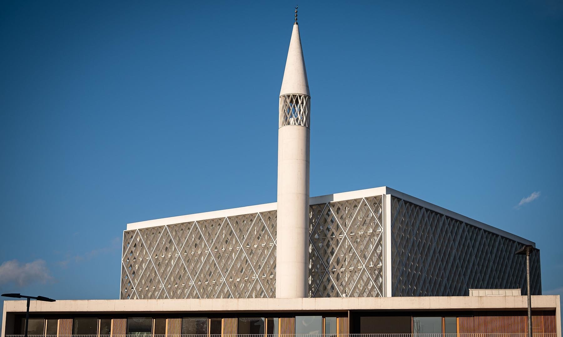 A picture taken on on January 29, shows the minaret of Slovenia's first mosque in Ljubljana. — AFP