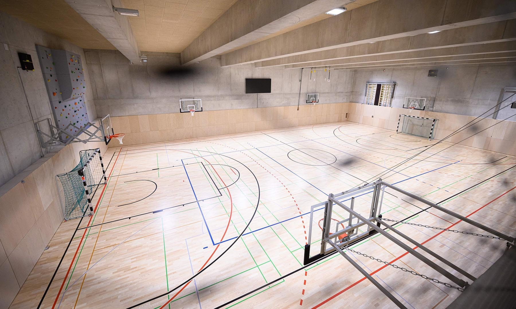 A general view of a sports hall inside Slovenia's first mosque is seen in this photo. — AFP