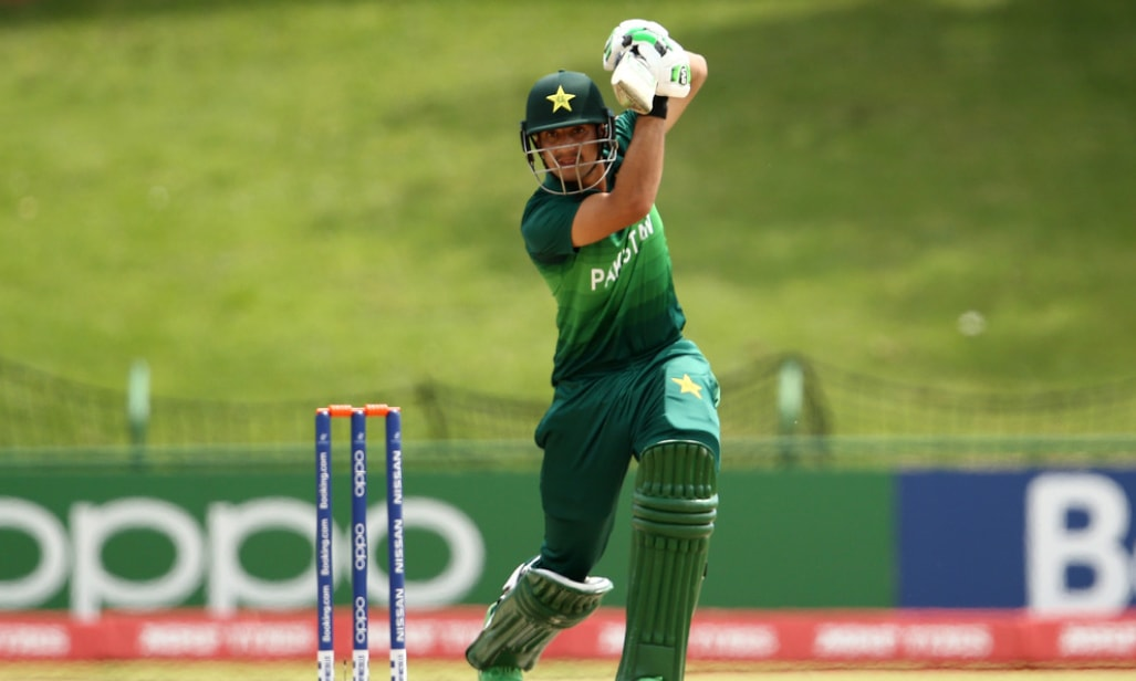 The second wicket fell in the ninth over when Fahad Munir departed for naught.— Photo courtesy PCB Twitter