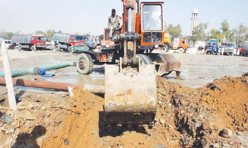 The municipal administration is learnt to have sought help of the Rangers and Sindh police for retrieving the illegally occupied land of the sewerage farm, better known as Gutter Baghicha. — File