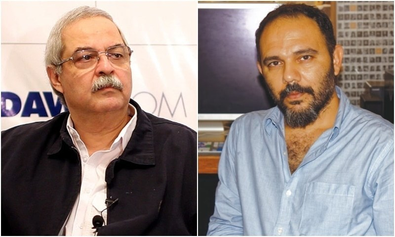The Sindh High Court has restrained filmmaker Jamshed Mahmood, popularly known as Jami, from making any defamatory statement against Dawn Chief Executive Officer Hameed Haroon.    — Photos courtesy Sara Faruqi/Farheen Jawaid