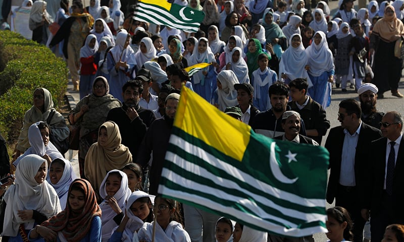 Govt, opposition leaders unanimous in 'unwavering support' for people of occupied Kashmir