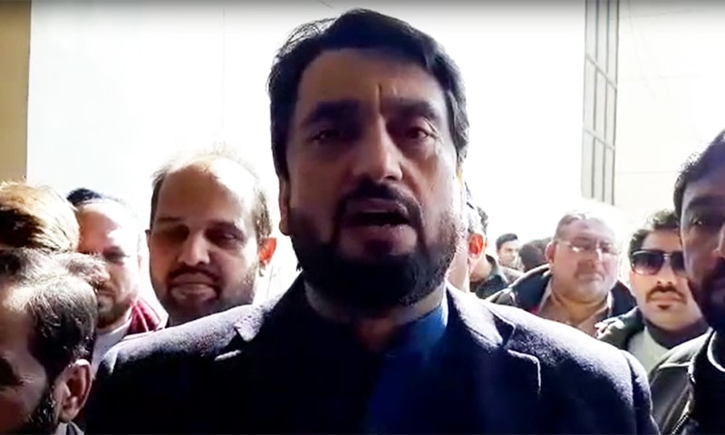 """""""Nothing is good or bad, it is the thinking that makes it so,"""" says Safron Minister Shehryar Afridi. — Screengrab from video provided by Tahir Naseer"""