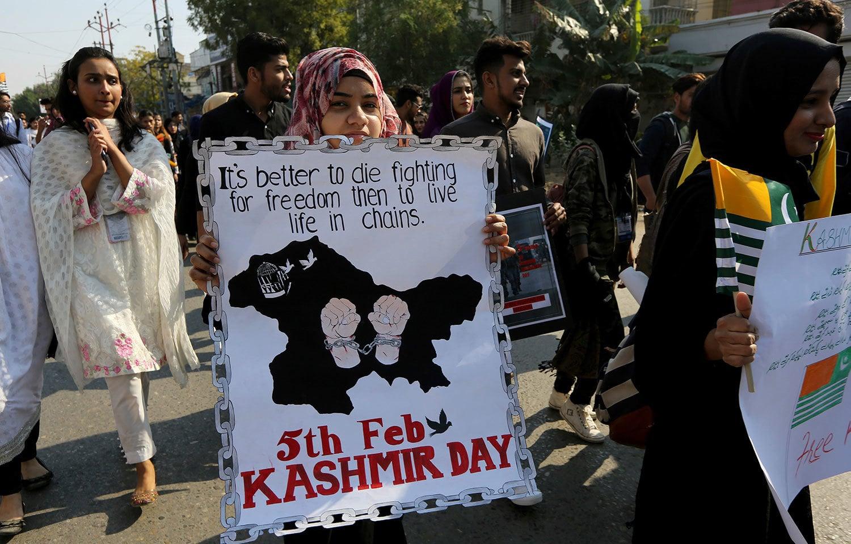 یوم یکجہتی کشمیر ہر سال 5 فروری کو منایا جاتا ہے— فوٹو: اے ایف پی