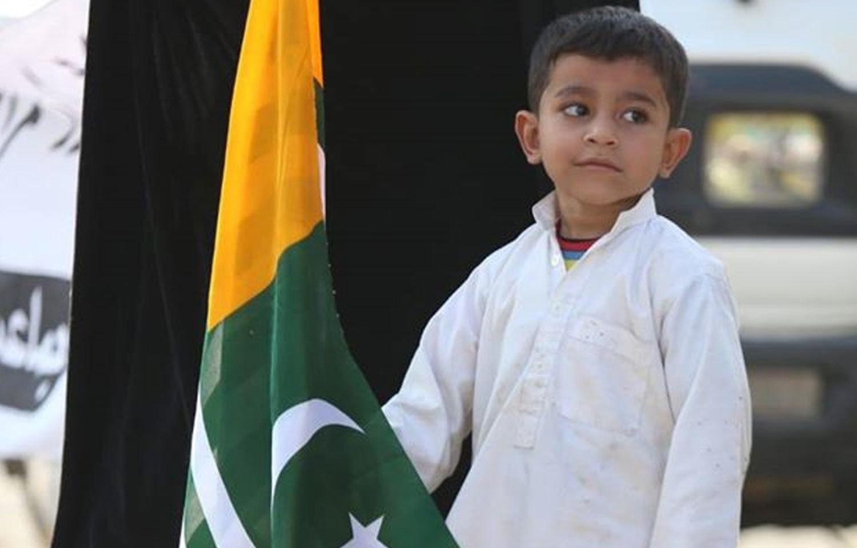 بچوں نے بھی  ریلیوں میں شرکت کرکے کشمیری بھائیوں سے یکجہتی کا اظہار کیا  — فوٹو: جماعت اسلامی  فیس بک پیج