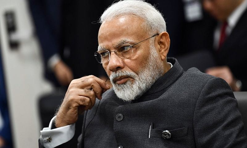 Modi vows to build 'grand' temple at Babri mosque site