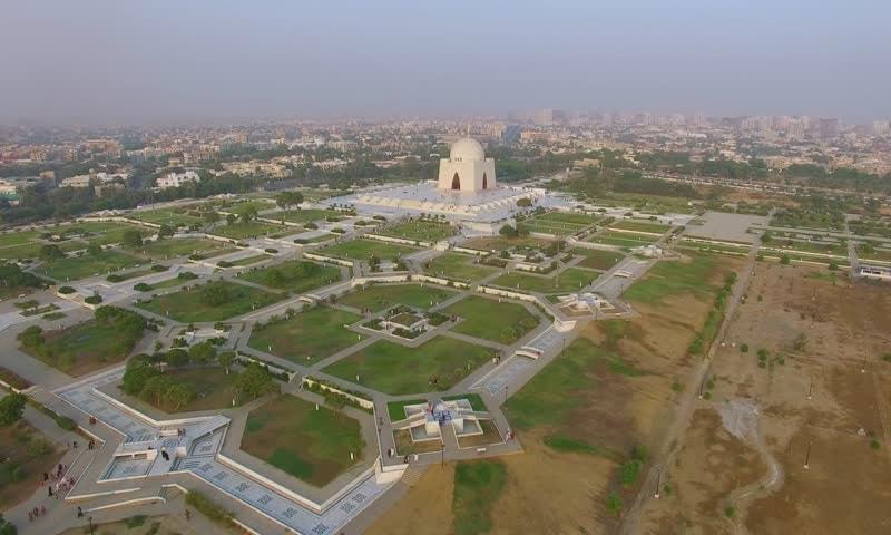 مزار قائد کے احاطے کا فضائی منظر—فائل فوٹو:شٹر اسٹاک