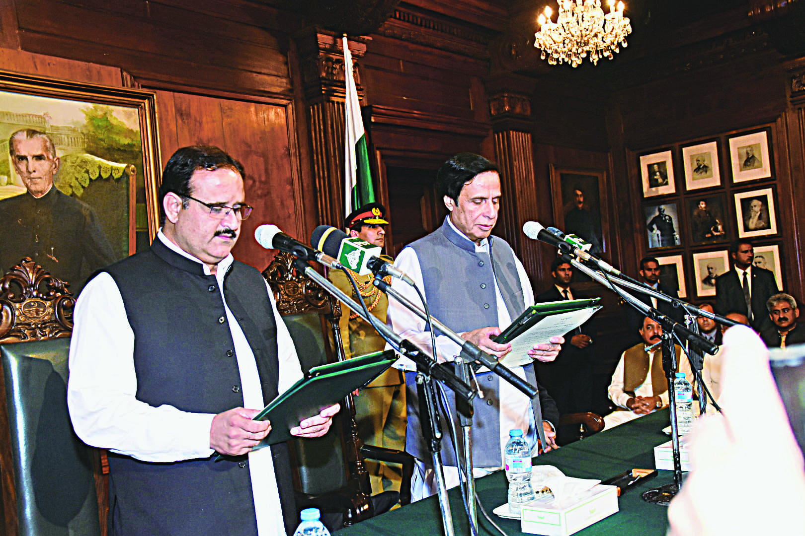 Usman Buzdar addresses the Punjab Assembly after his election as chief minister | M.Arif/White star