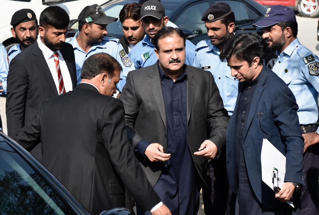 Chief Minister of Punjab Sardar Usman Ahmad Khan Buzdar arrives at the Islamabad High Court | Tanveer Shahzad/White star