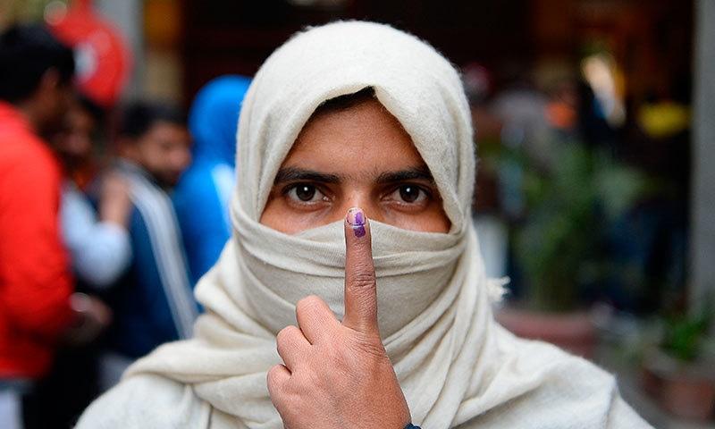 دہلی کے انتخابات میں مودی کی جماعت کو بدترین شکست کا سامنا، ایگزٹ پول نتیجہ