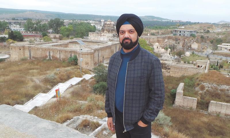 Bansal on the hill that overlooks Katas Raj in the Salt Range | Bobby Singh Bansal