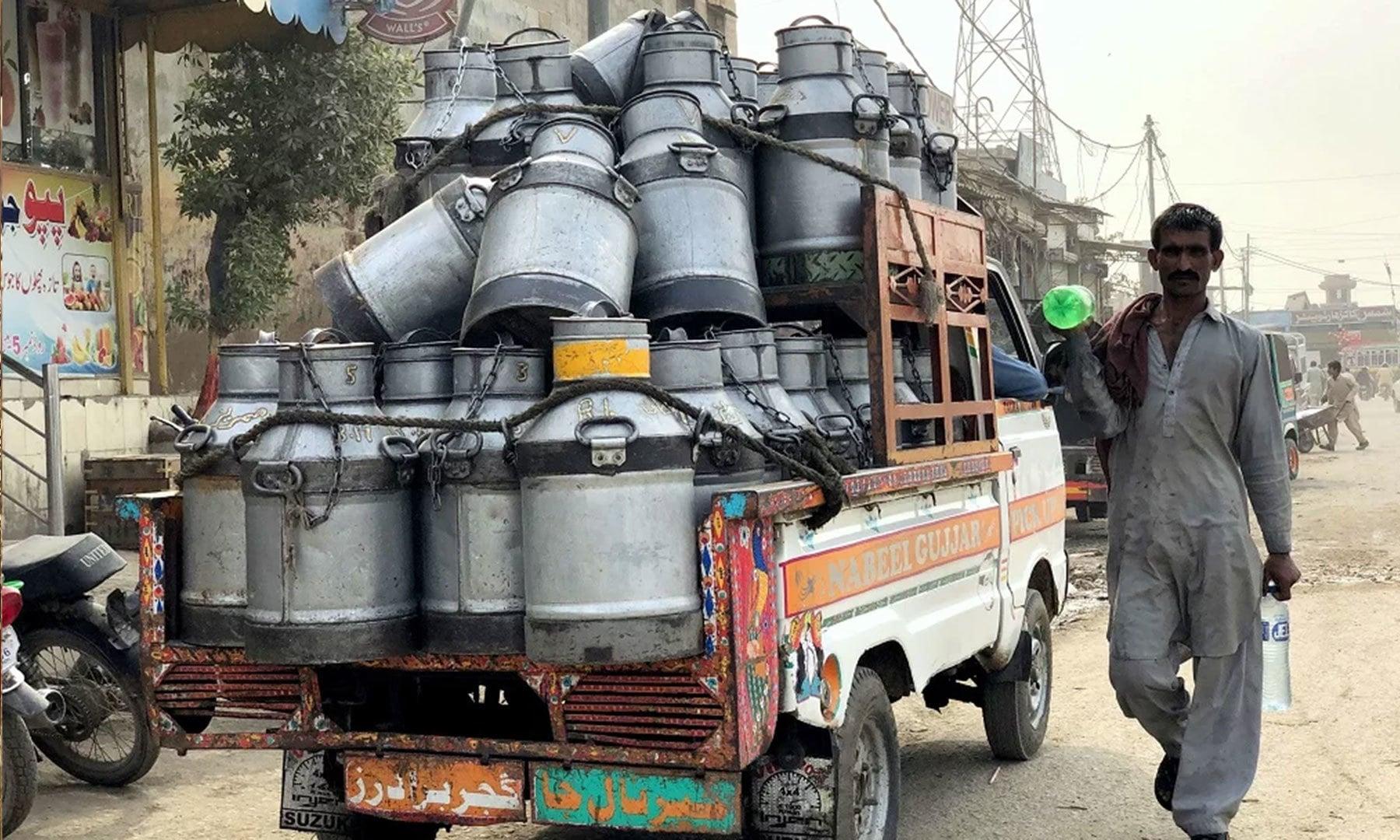 یاسمین برکت کراچی میں امبالا سویٹس اور بیکرز کی دکانوں کو ہر روز 374 لیٹر دودھ بیچتی ہیں