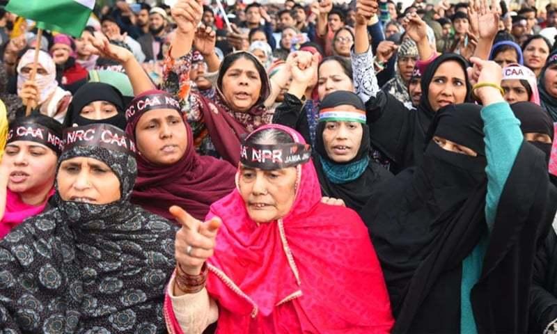 بھارتی سپریم کورٹ نے شاہین باغ سے مظاہرین کو ہٹانے کا حکم دینے کی درخواست مسترد کردی تھی—فائل/فوٹو:ہندوستان ٹائمز