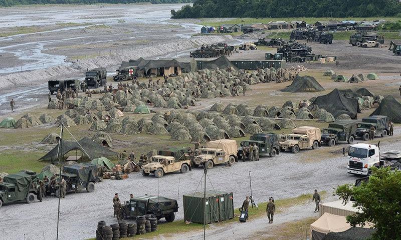 امریکا اور فلپائن کے درمیان 1998 میں معاہدہ ہوا تھا—فوٹو:اے ایف پی