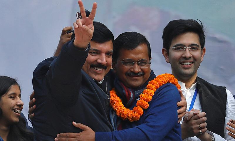 بھارتی حکمران جماعت کو دہلی میں بدترین شکست، عام آدمی پارٹی کامیاب