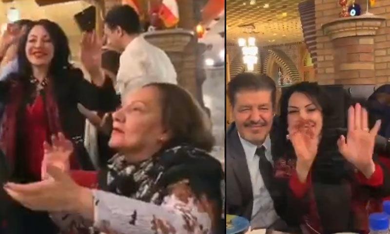 ویڈیو ایرانی سوشل میڈیا پر خوب وائرل ہوئی تھی—اسکرین شاٹ