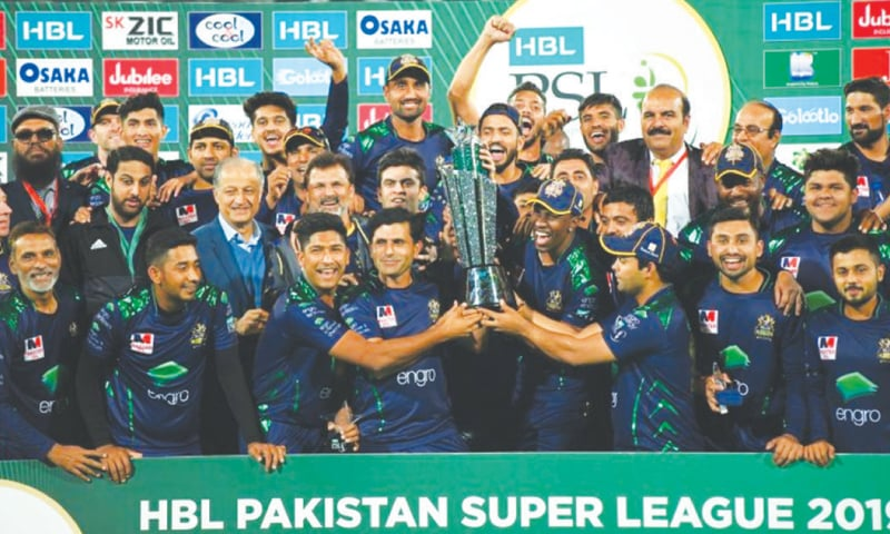 Quetta Gladiators, champion of the PSL 2019