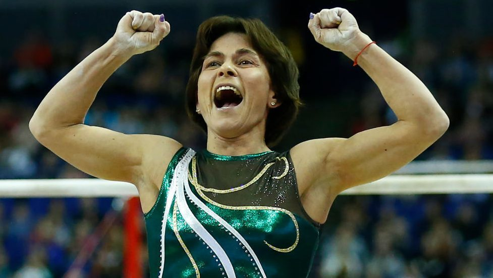 """""""I love gymnastics. I tell myself: why not train and perform while you still can?""""  — Olympics website"""